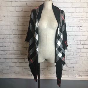 AUTHENTIC Burberry XL black red checker wrap